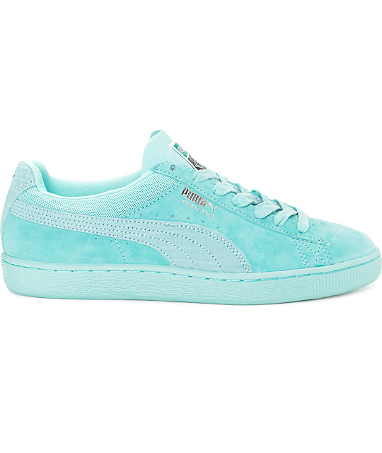 ... PUMA x Diamond Supply Suede Classic Aruba Blue Suede Shoes 8860c29c0