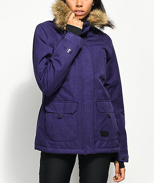 PWDR ROOM Cloud Mulberry 10K Snowboard Jacket