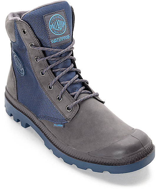 Palladium Pampa Sport Cuff WPN Rabbit and Dark Denim Boots