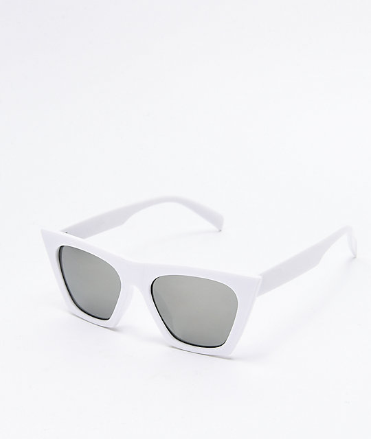 Paloma Square Cateye White Sunglasses