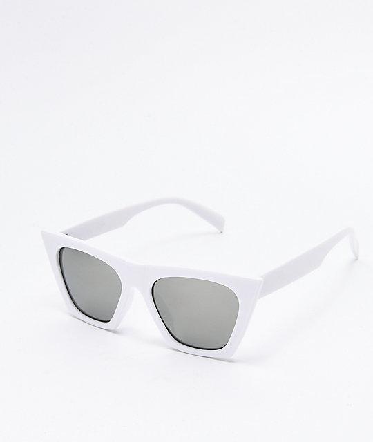 3e8474cf9ab9f Paloma gafas de sol blancas de ojo de gato ...