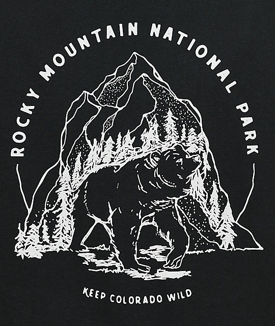 Parks Project CO Rocky Mountain Bear Black T-Shirt