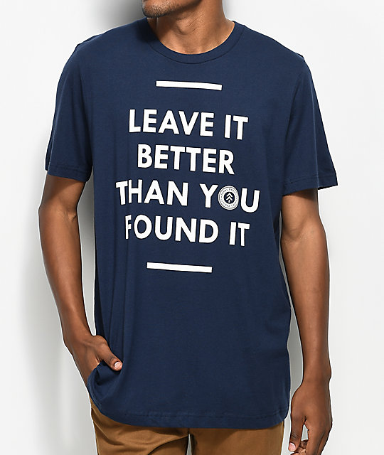 Parks Project Leave It Better camiseta en azul marino