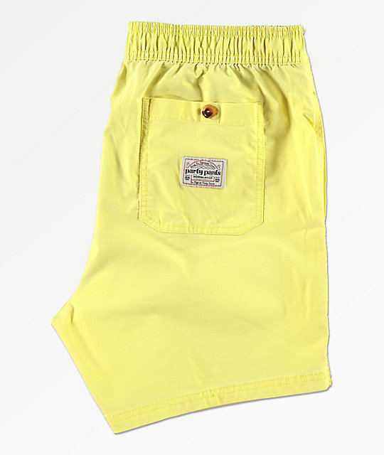 Party Pants Port shorts de baño amarillos