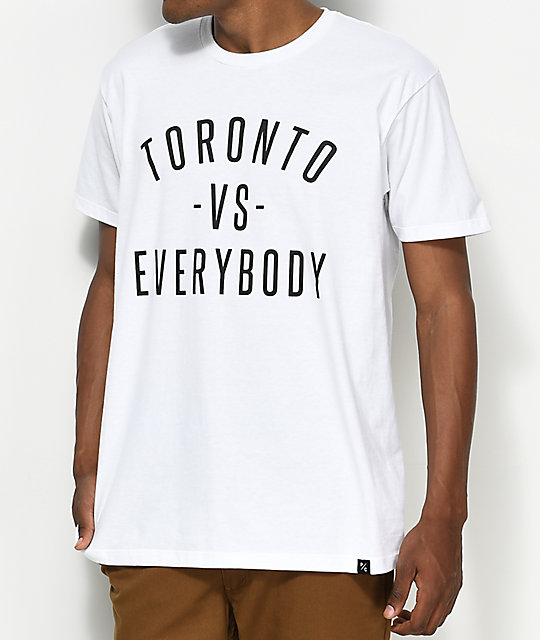 bfb6f0915 Peace Collective Toronto Vs Everybody White T-Shirt | Zumiez.ca