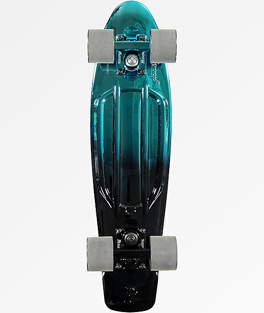 "Penny Blue & Black Metallic Fade 22"" Cruiser Complete Skateboard"