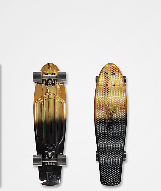 "Penny Nickel Black Gold 27"" Cruiser Complete Skateboard"