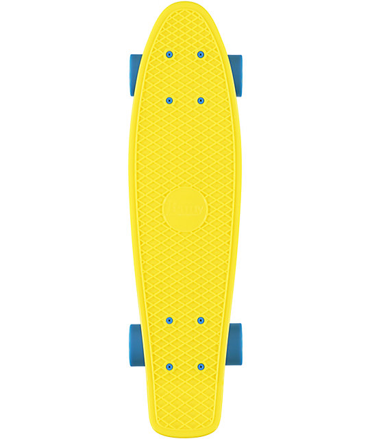 "Penny Original Fluorescent Yellow 22.5""  Cruiser Complete Skateboard"