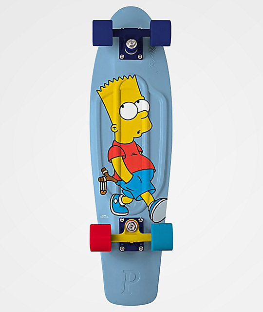 "Penny x The Simpsons Bart 27"" Cruiser Complete Skateboard"