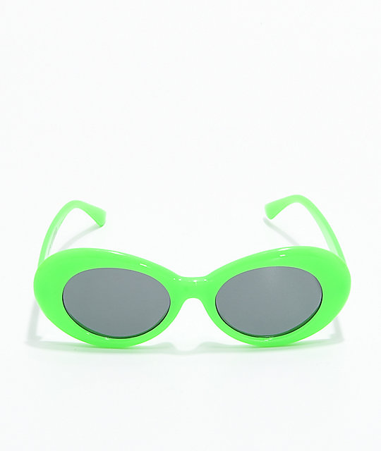 Petals & Peacocks Nevermind Lime Sunglasses