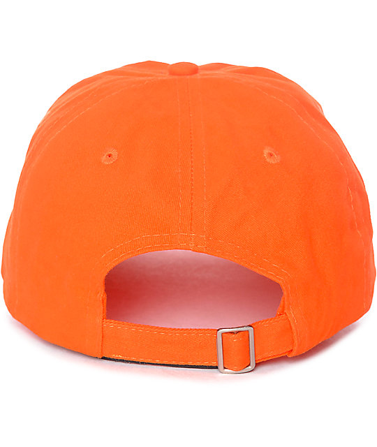 Petals & Peacocks Offline Orange Baseball Hat