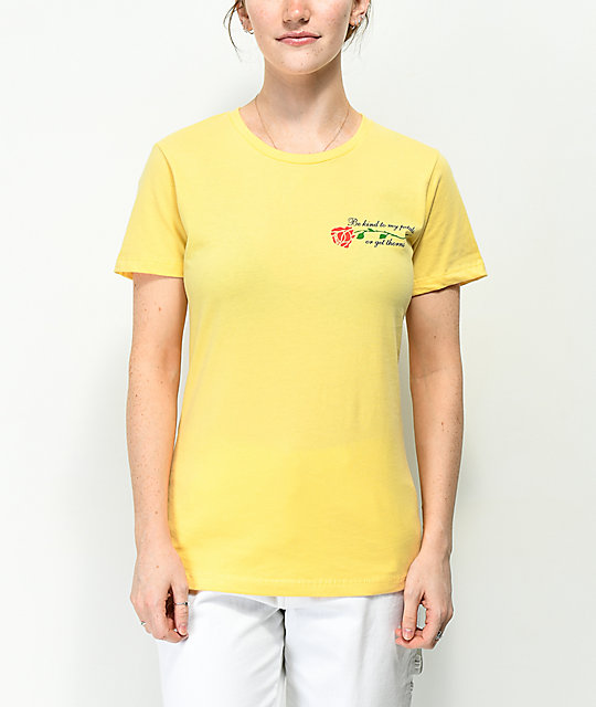 Petals By Petals & Peacocks My Petals Yellow T-Shirt