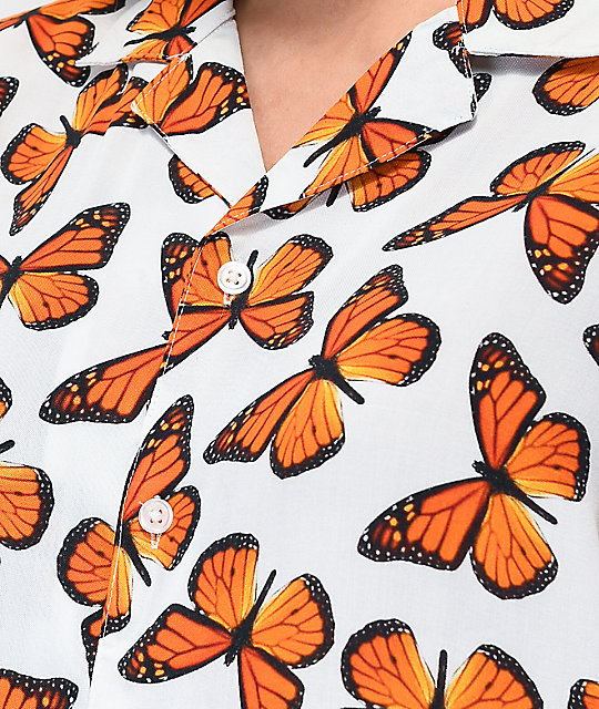 Petals and Peacocks Butterfly Effect camisa de manga corta