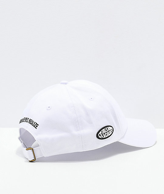 Petals and Peacocks Lies White Strapback Hat