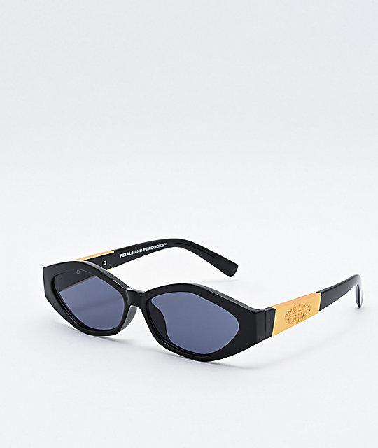 Petals and Peacocks Numerica Black & Gold Sunglasses