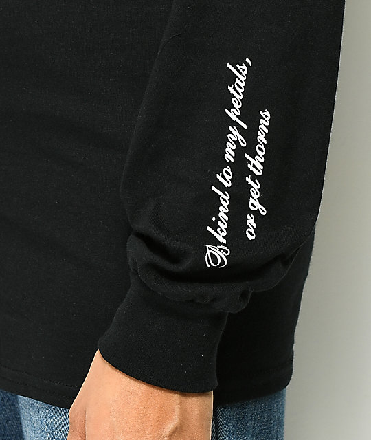 Petals by Petals & Peacocks Or Thorns Black Long Sleeve T-Shirt