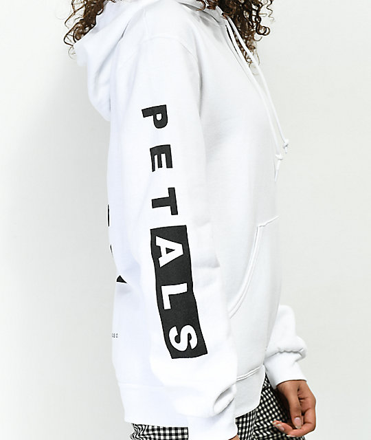 Petals by Petals & Peacocks Thorn Bush White Hoodie