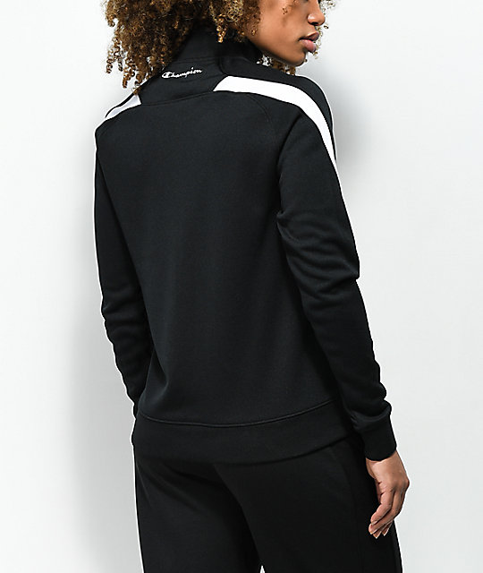 Petals by Petals & Peacocks x Champion Black & White Track Jacket