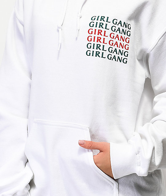 Petals by Petals and Peacocks Girl Gang White Hoodie
