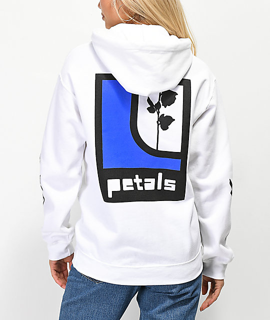 Petals by Petals and Peacocks Ill Will Rose White Hoodie