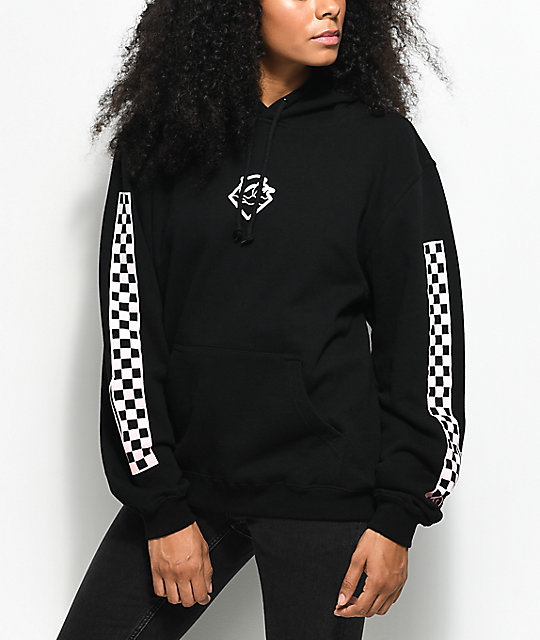 Pink Dolphin Checker Black Hoodie