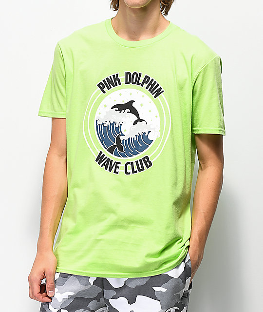 Pink Dolphin Club Crest Green T-Shirt