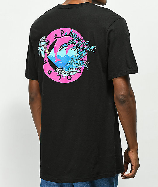 Pink Dolphin Oasis Seal Black T-Shirt