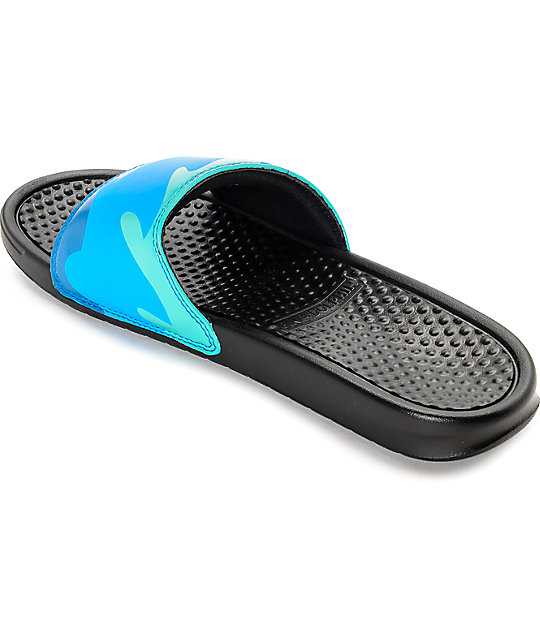 d77d3771822f01 ... Pink Dolphin Ocean Slide Black Sandals ...