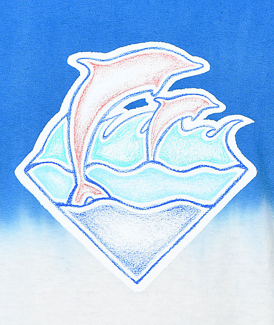 Pink Dolphin Sketchy Waves Multicolored T-Shirt