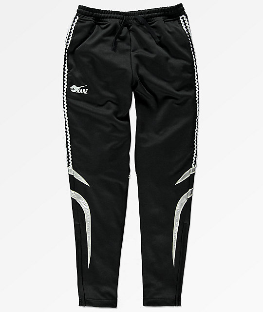 Pink Dolphin Wave Stripe Black Track Pants