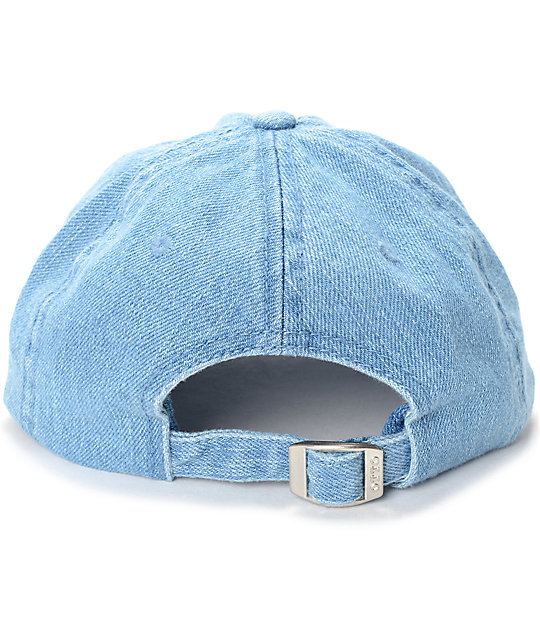11c3e18bcdf48 ... Pink Dolphin Waves 8 Ball Denim Dad Hat
