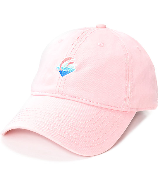 Pink Dolphin Waves Pink Dad Hat