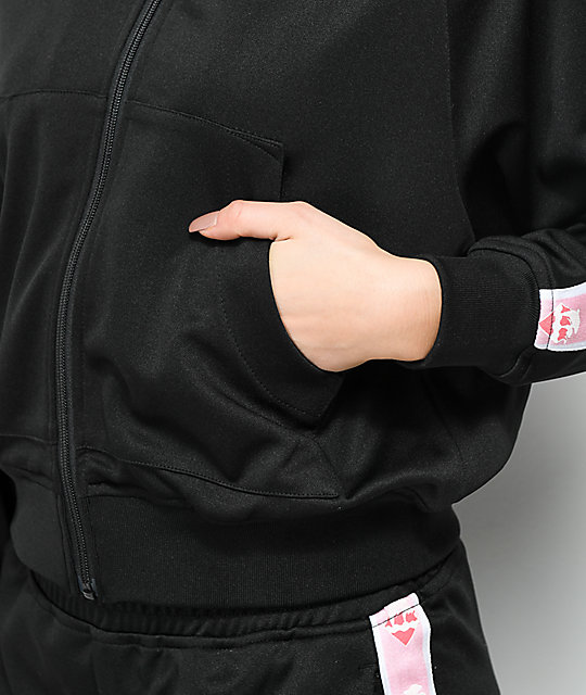 Pink Dolphin Wavesport Black Zip Up Track Jacket