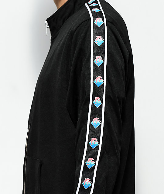 Pink Dolphin Wavesport Zip Up Black Track Jacket