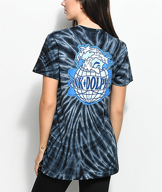 Pink Dolphin Worldwide Black Tie Dye T-Shirt