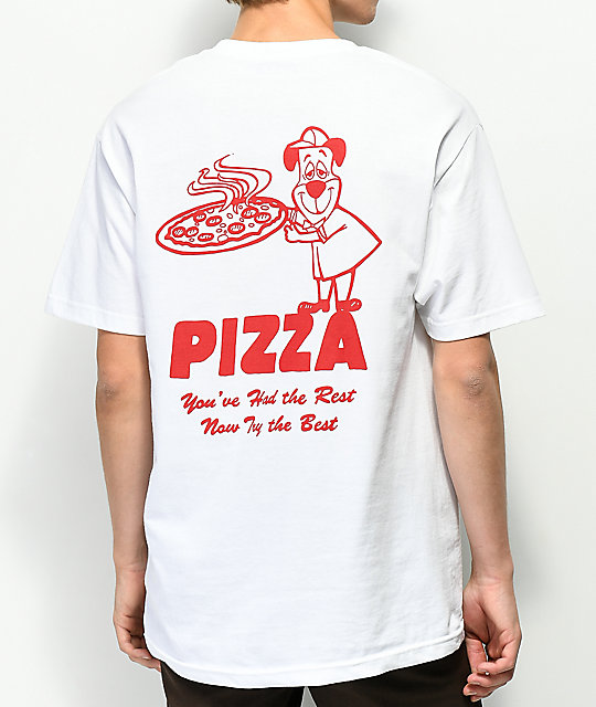 Pizza Homeslice camiseta blanca