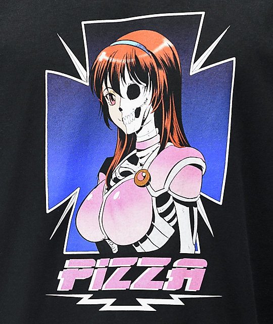 Pizza Hooked Black T-Shirt