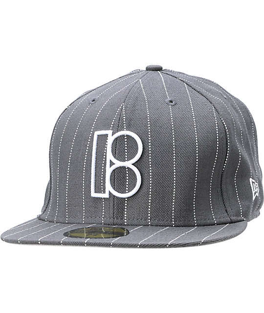 Plan B Authentic Charcoal Pinstripe Hat