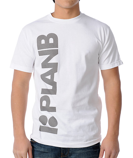 Plan B Faded White Skate T-Shirt