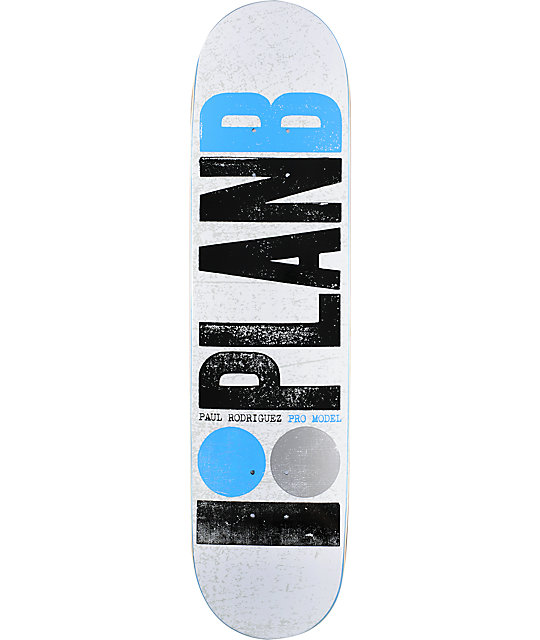 "Plan B OG Pro P.Rod 8.0""  Skateboard Deck"