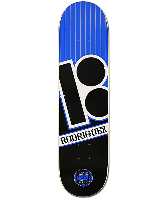 "Plan B Paul Rodriguez Baseball 8.0""  Skateboard Deck"