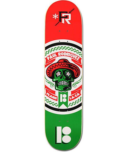 "Plan B Paul Rodriguez Independence Day 7.75""  Skateboard Deck"