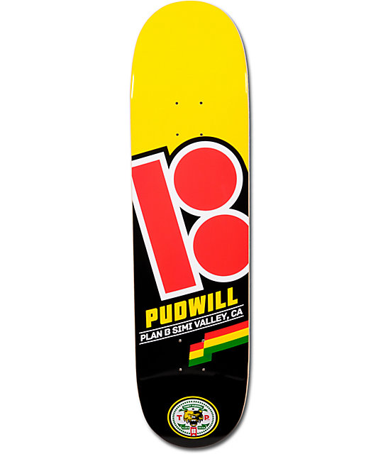 "Plan B Pudwill Flag 8.0""  Skateboard Deck"