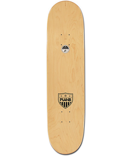 "Plan B Team United 7.75""  Skateboard Deck"