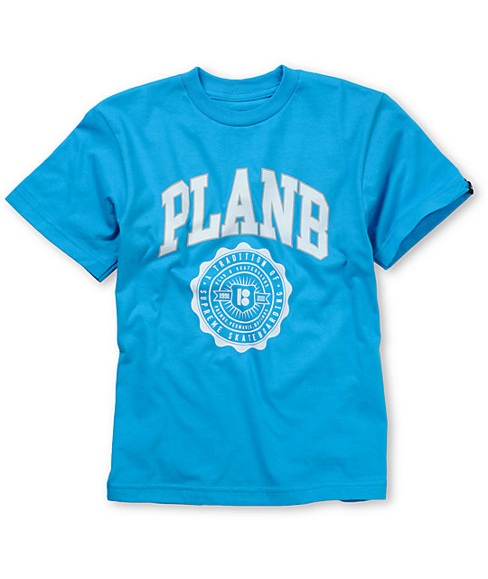 Plan B Uni Boys Blue T-Shirt