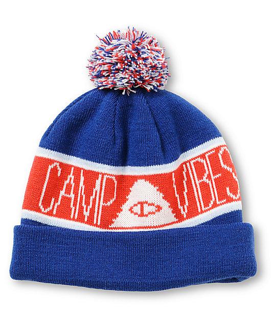 Poler Camp Vibes Pom Beanie  703b87a146c
