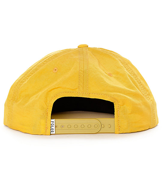 4815dac3df5 ... Poler Furry Heart Mustard Floppy Strapback Hat