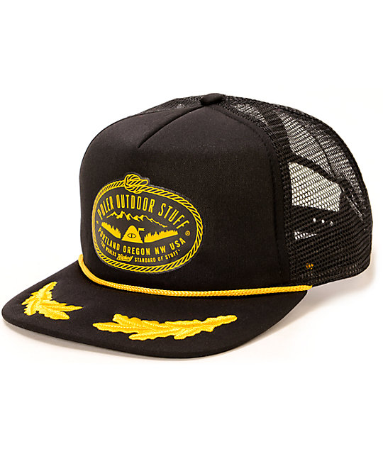 b7df721b Poler Oak Leaves Lasso Trucker Hat | Zumiez