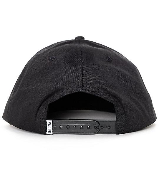 f35bd6253551c Poler Psychedelic Black Snapback Hat  Poler Psychedelic Black Snapback Hat