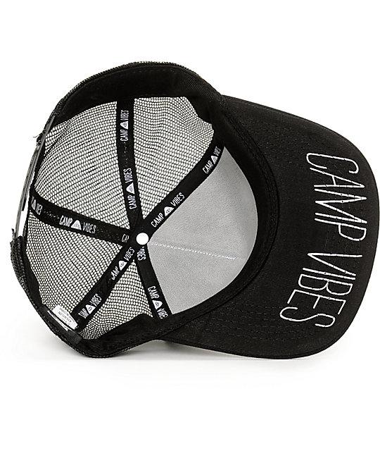 ... Poler Venn Black Trucker Hat ... 671db6a3f7ef